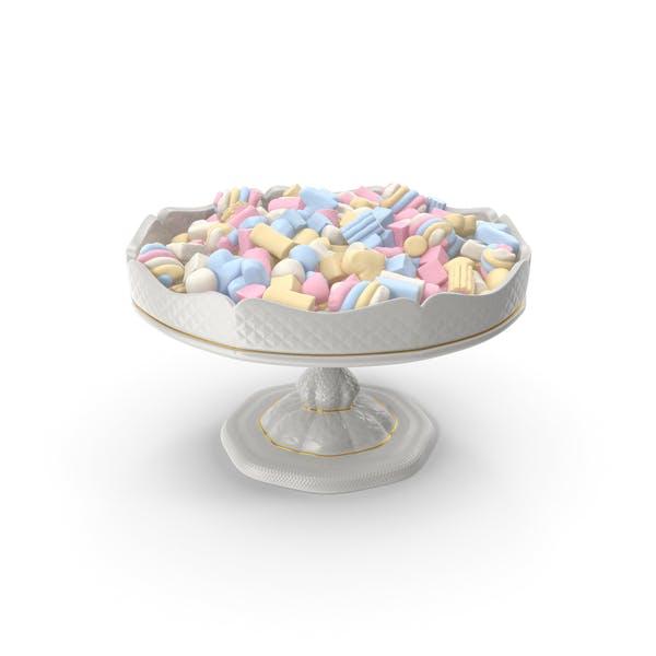 Необычные фарфоровые чаши со смешанным зефиром