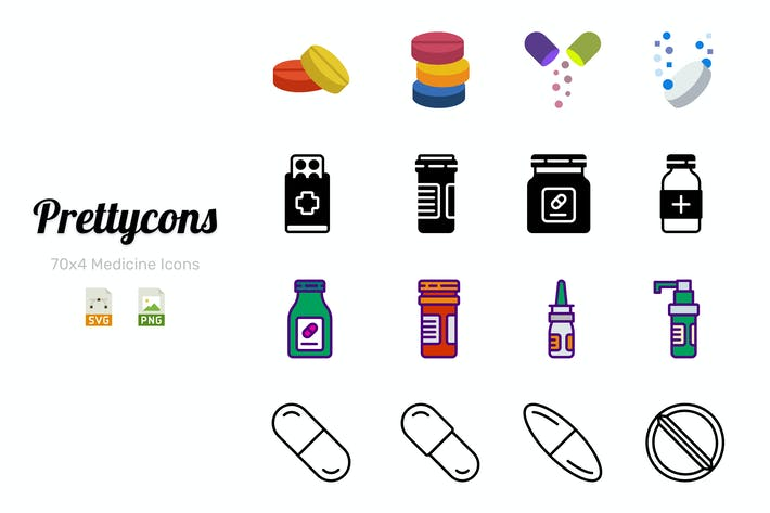 Thumbnail for Prettycons - 280 Medicine Icons Vol.1