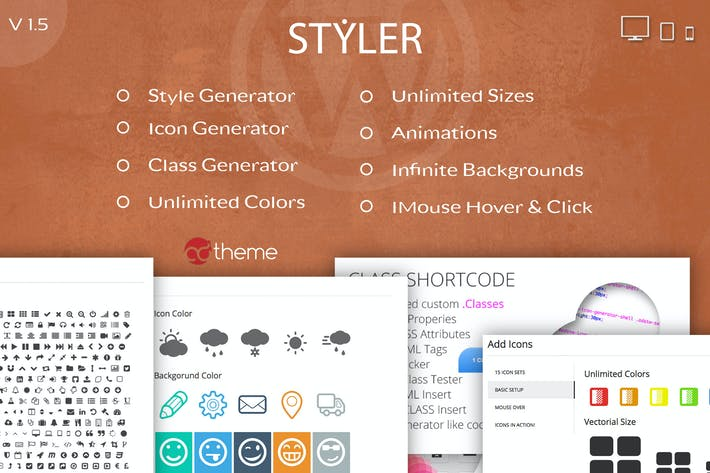 Thumbnail for Styler - Icons, Fonts and CSS Generator for WP