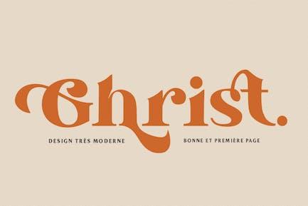 Ghrist - Elegant Bold Serif