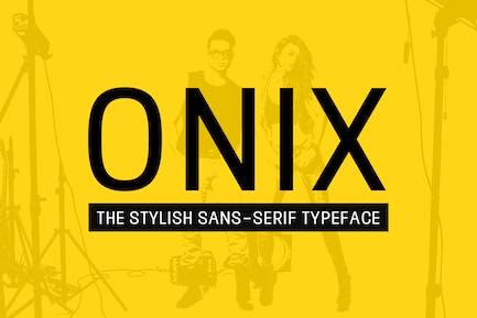 ONIX - Stylish Sin serifa/Tipo de letra de la pantalla