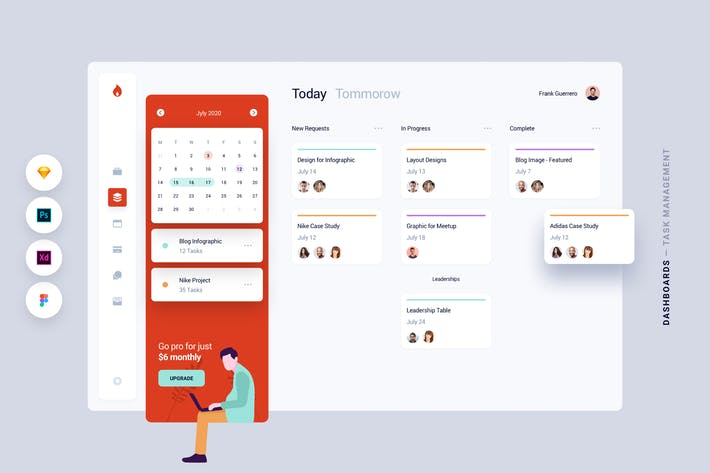 Thumbnail for Dashboard - Aufgabenverwaltung Web App UI Kit