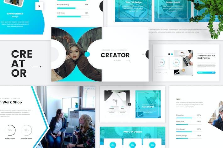 Thumbnail for Шаблон ключевых заKeynote Influencer и создателя контента