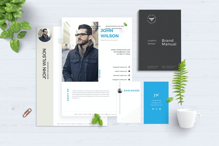 Thumbnail for Corporate CV Template