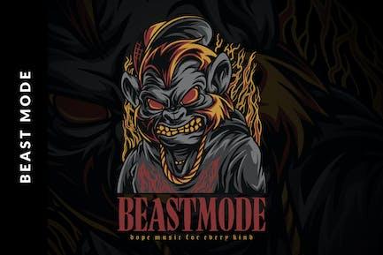 Beast Mode Illustration
