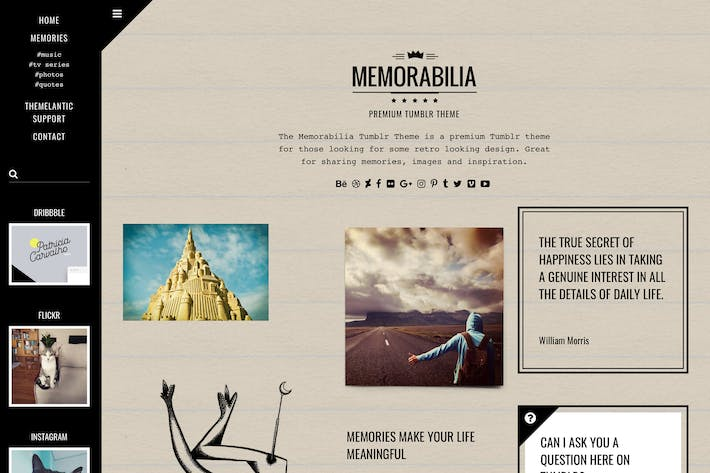 Thumbnail for Memorabilia Tumblr Theme