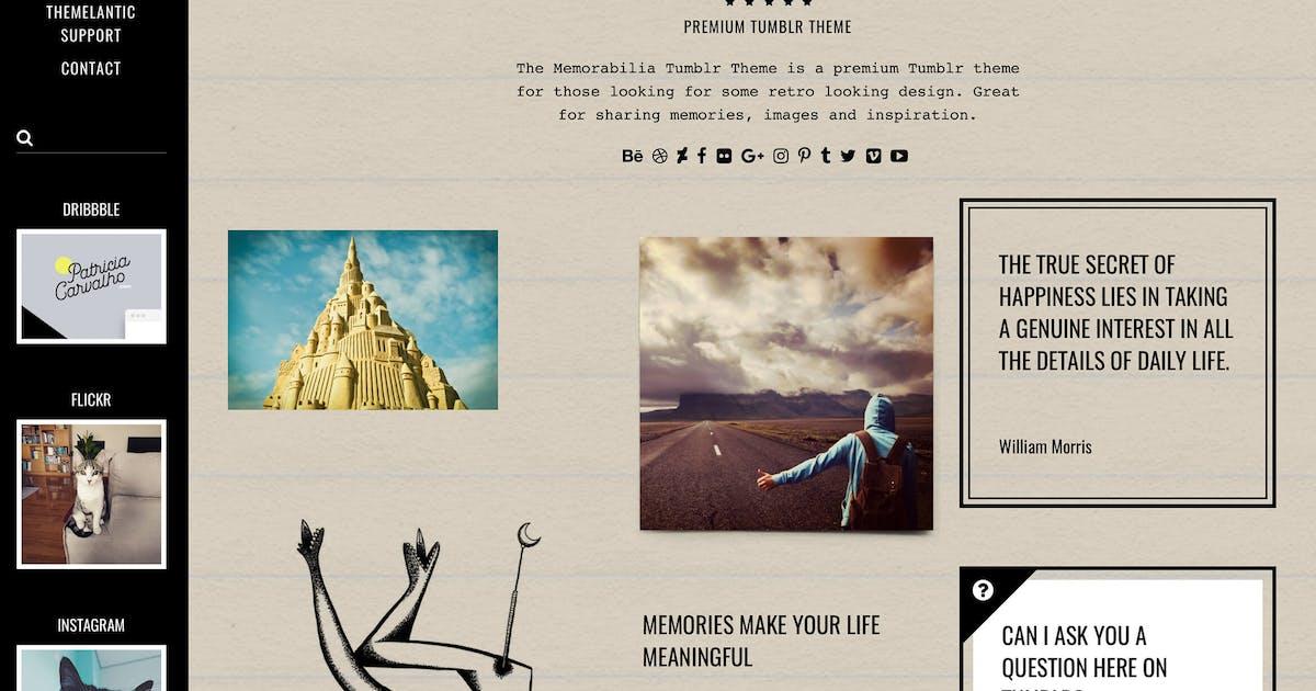 Download Memorabilia Tumblr Theme by themelantic