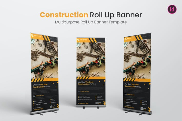 Thumbnail for Construction Roll Up Banner