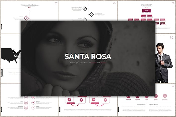 Thumbnail for SANTA ROSA Google Slides