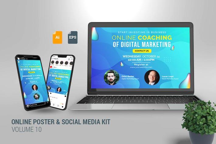 Thumbnail for Online Poster & Social Media Kit Vol. 10