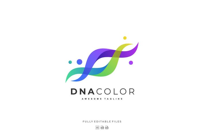 Abstract DNA Color Gradient logo