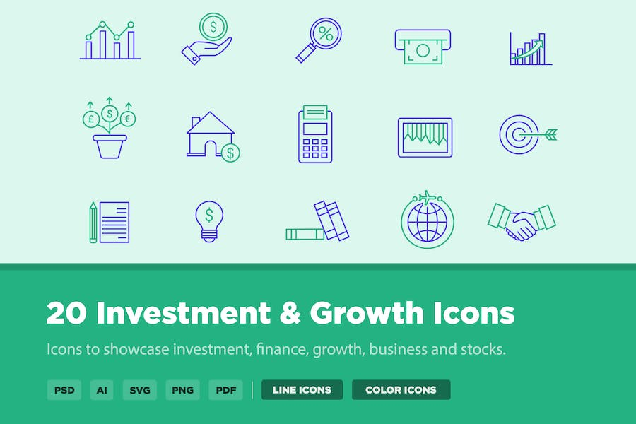 20 Investment & Growth Icons