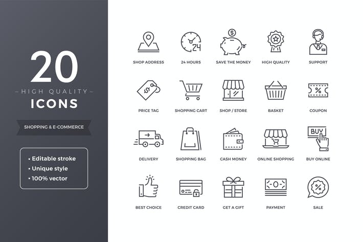 Thumbnail for E-commerce Icons