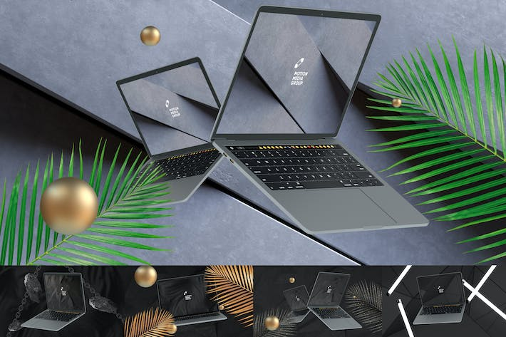 Thumbnail for 10 Black Laptop Mockups