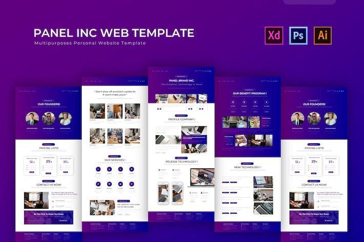 Thumbnail for Panel Inc | PSD Web Template