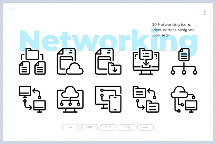 30 Networking Icons