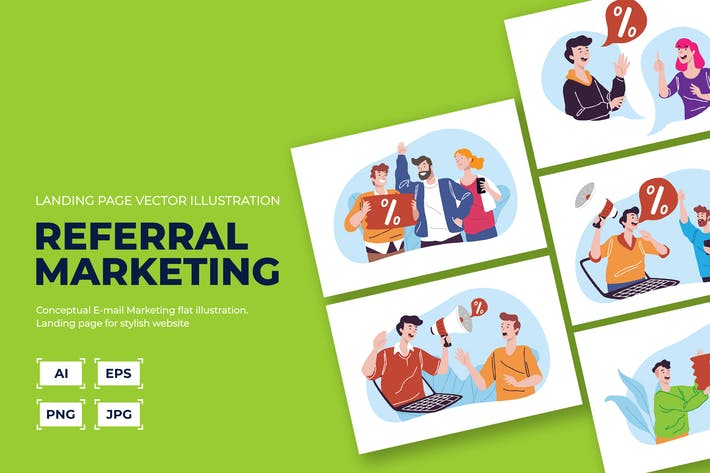 Thumbnail for Referral/ Internet marketing illustration