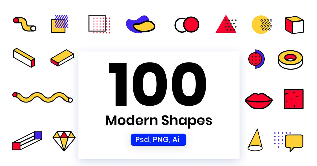 Download Modern Shapes & Elements by Pixflow