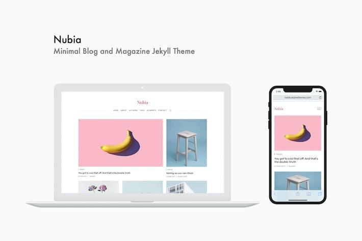 Thumbnail for Nubia - Minimal Blog and Magazine Jekyll Theme