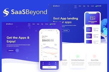 SassBeyond - Sass & Software Landing Page Template
