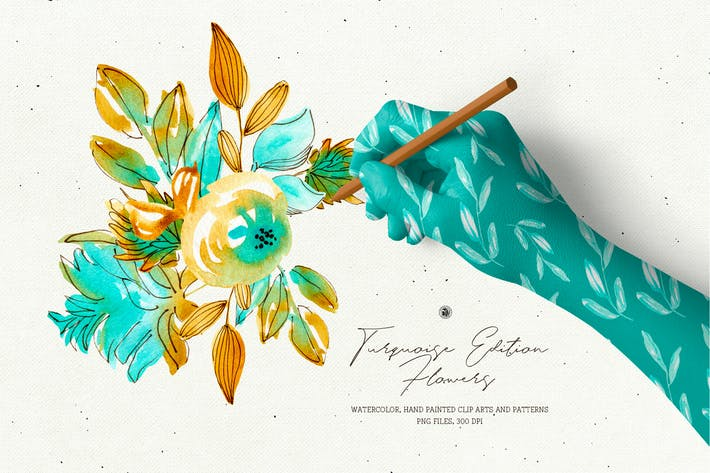Thumbnail for Turquoise Edition Flowers