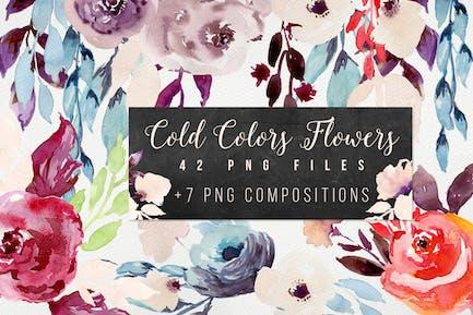 Kalte Farben Blumen