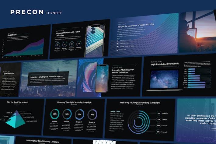 Thumbnail for Precon - Tech Business Keynote Template
