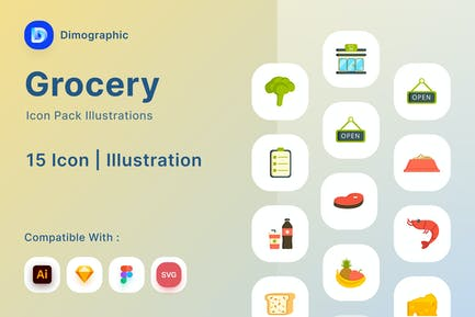 Grocery Icon Pack