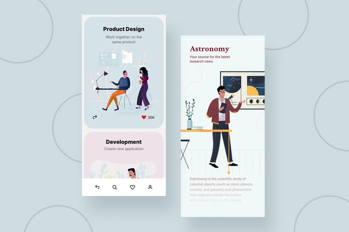 Thumbnail for Product Mobile Interface Illustrations