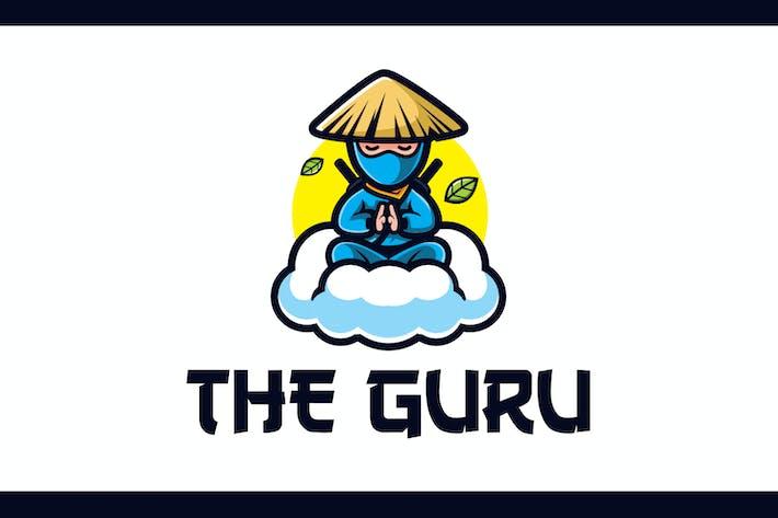 Thumbnail for Cartoon Calm Ninja Guru Mascot Logo