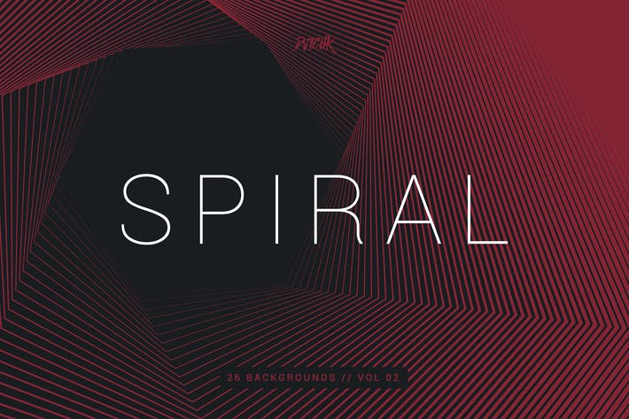 Thumbnail for Spiral | Hexagon Swirl Backgrounds | Vol. 02
