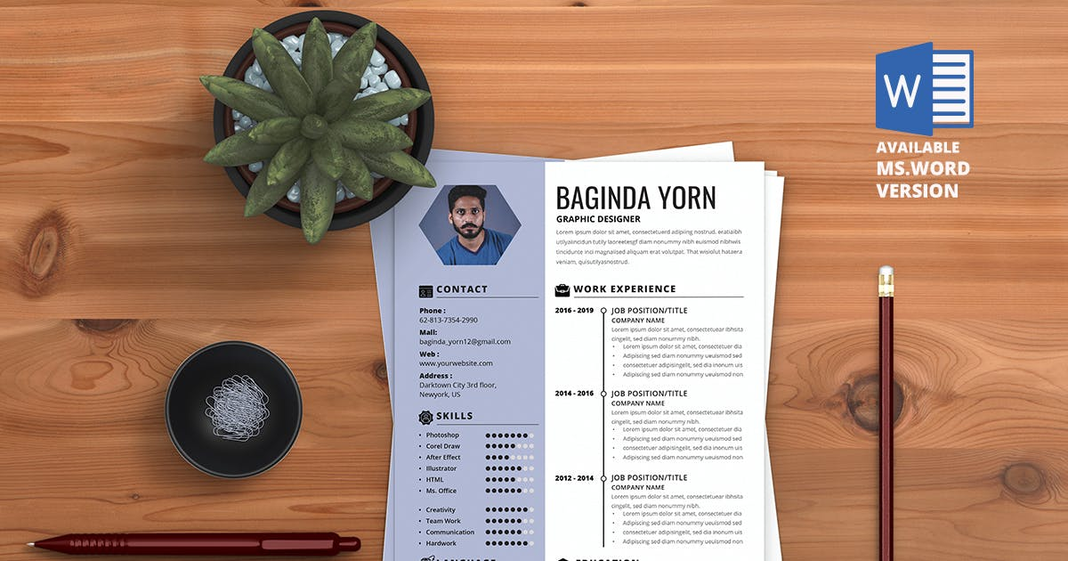 Download Minimalist CV Resume R.V3 by youwes