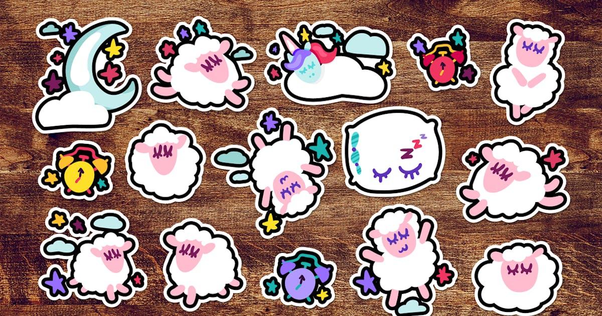 Download Fun Good Night Stickers Set by barsrsind