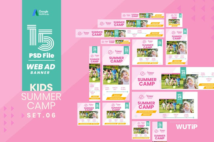 Thumbnail for Web Ad Banner-Kids Summer Camp 06