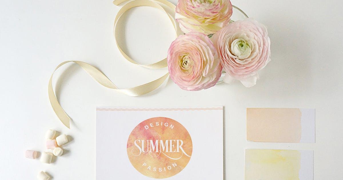 Invitation / Greeting card Mockup by amris