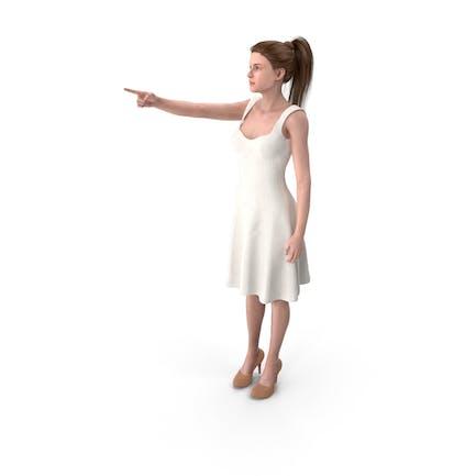 Mujer Mostrando dedo