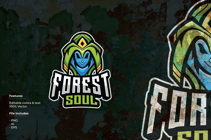 Thumbnail for Forest Soul Sport and Esport Logo Template