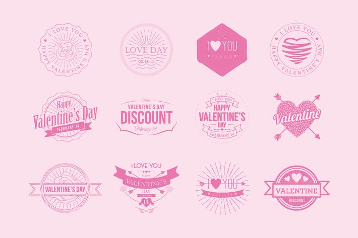 Thumbnail for Badges Valentine Vintage