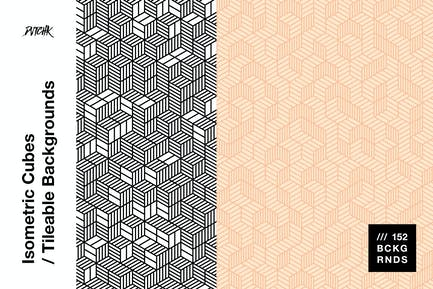 Isometric Cubes | Tileable Backgrounds