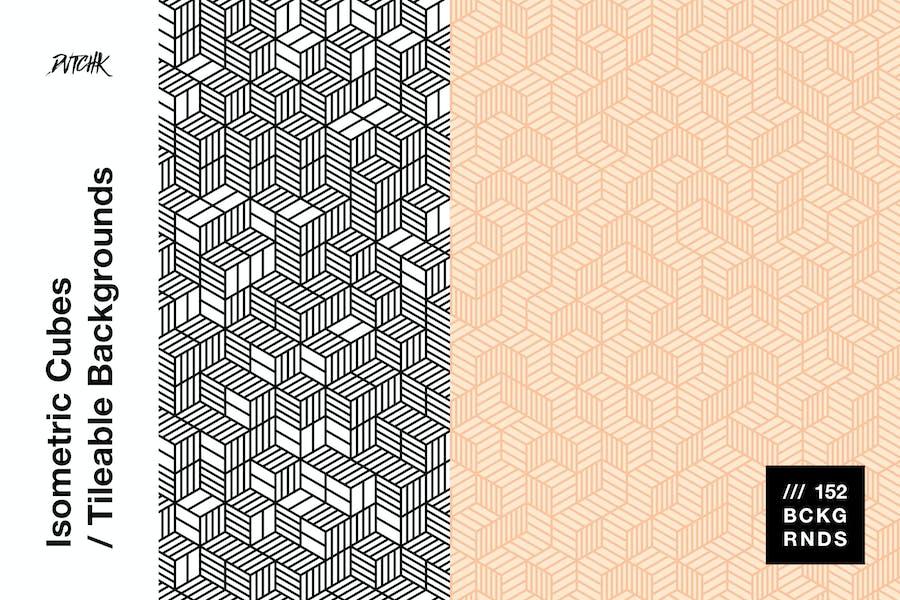 Isometrische Cubes | Kachelbare Hintergründe