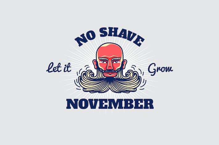 Thumbnail for no shave november - Mascot & Esport Logo