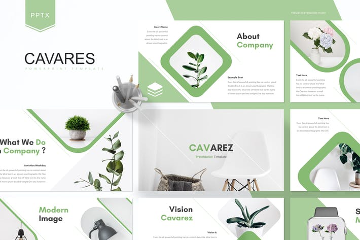Thumbnail for Cavares - Powerpoint Template