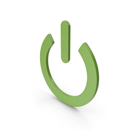 Power Icon Lime Green