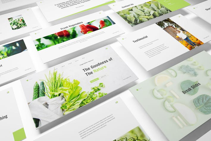 Thumbnail for Vegetables Keynote Template