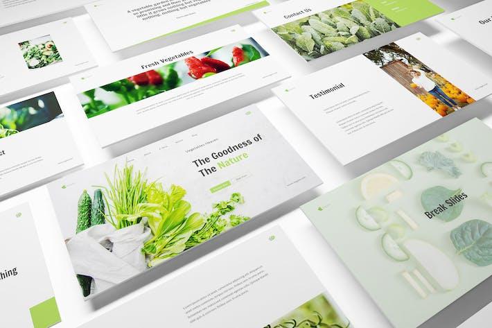 Шаблон Keynote по овощам