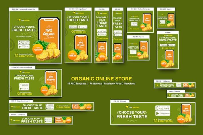 Bio Boutique en ligne Bannières