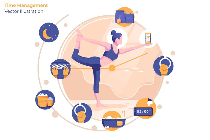 Thumbnail for Time Management - Vector Illustration