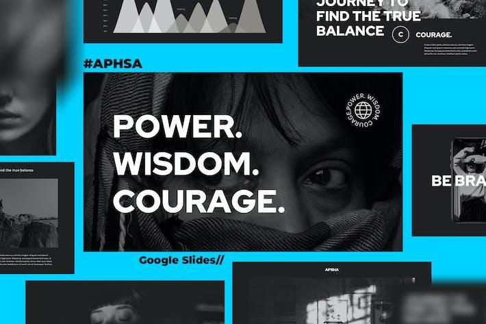 Thumbnail for APSHA - Creative Agency Google Slides Template