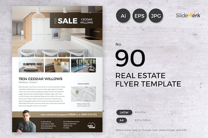 Thumbnail for Real Estate Flyer Template 90 - Slidewerk