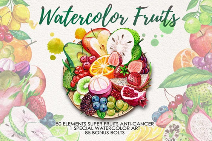 Thumbnail for Watercolor Fruits Vol. 4
